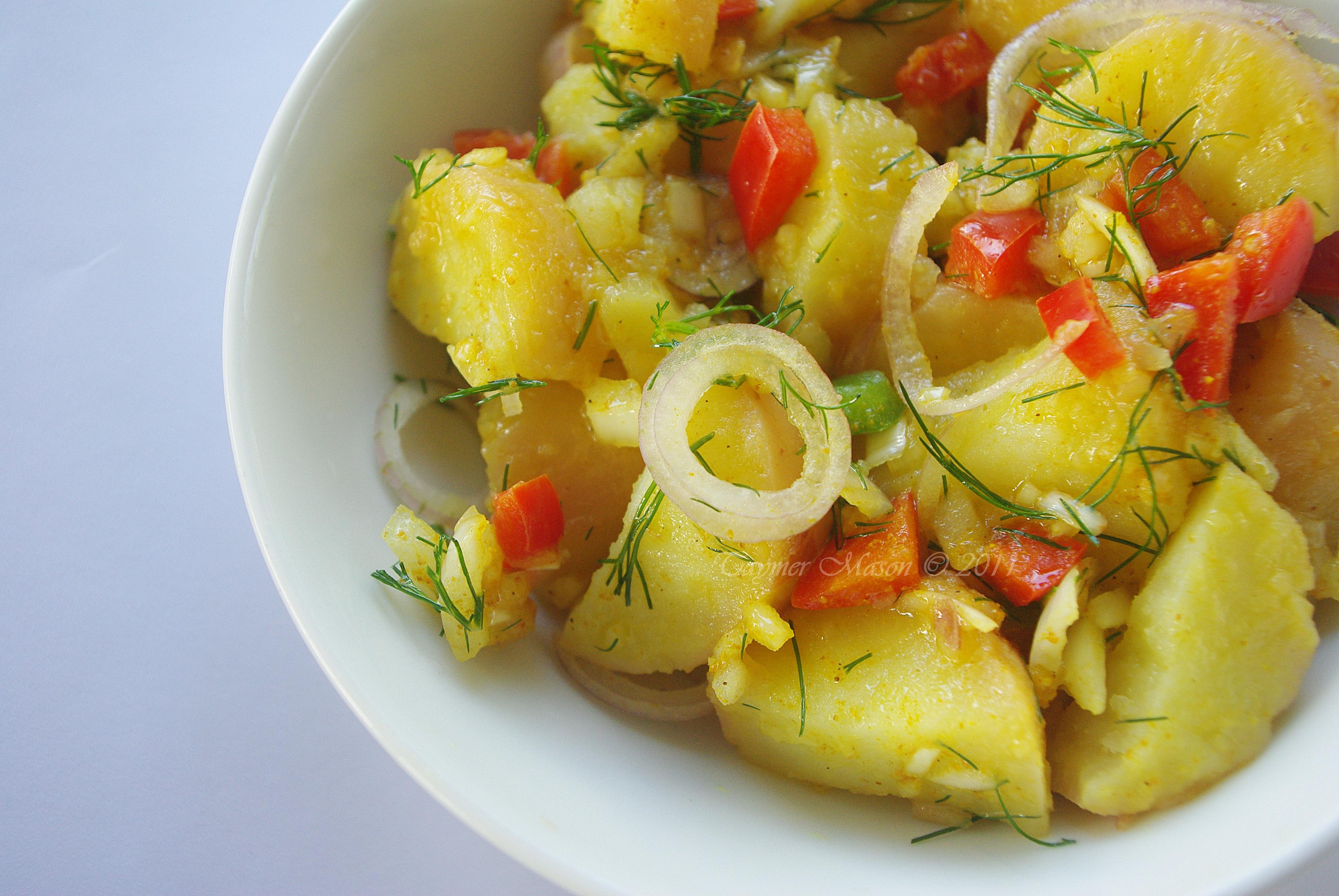 Curried Potato Salad ( No Mayo )Copyright Taymer Mason